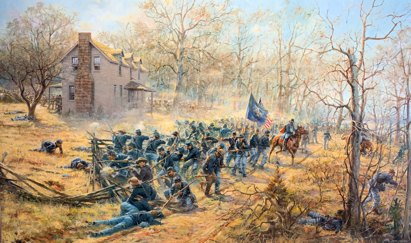 Painting of The Bayonet or Retreat by Andy Thomas