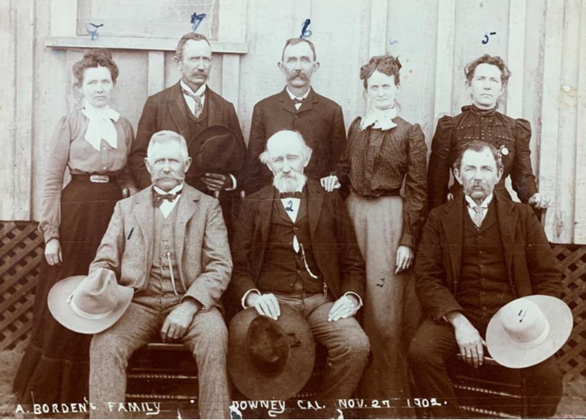1902 image of the Borden family