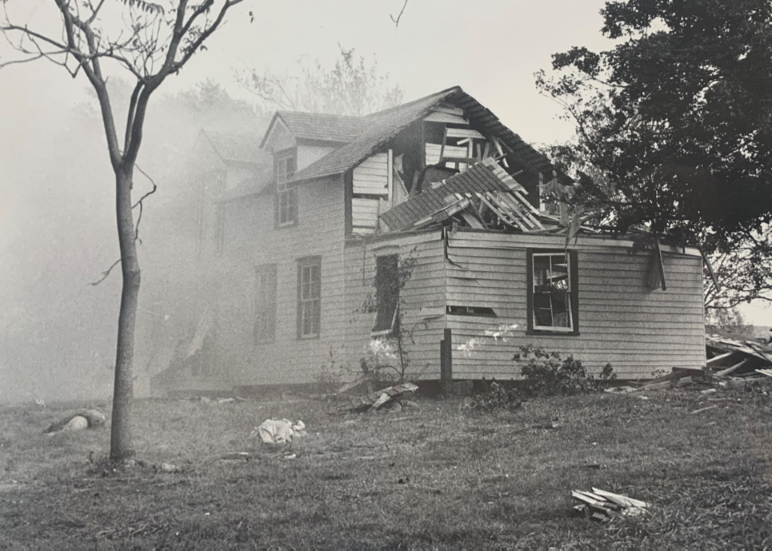 Borden House after the Blue and Gray explosion