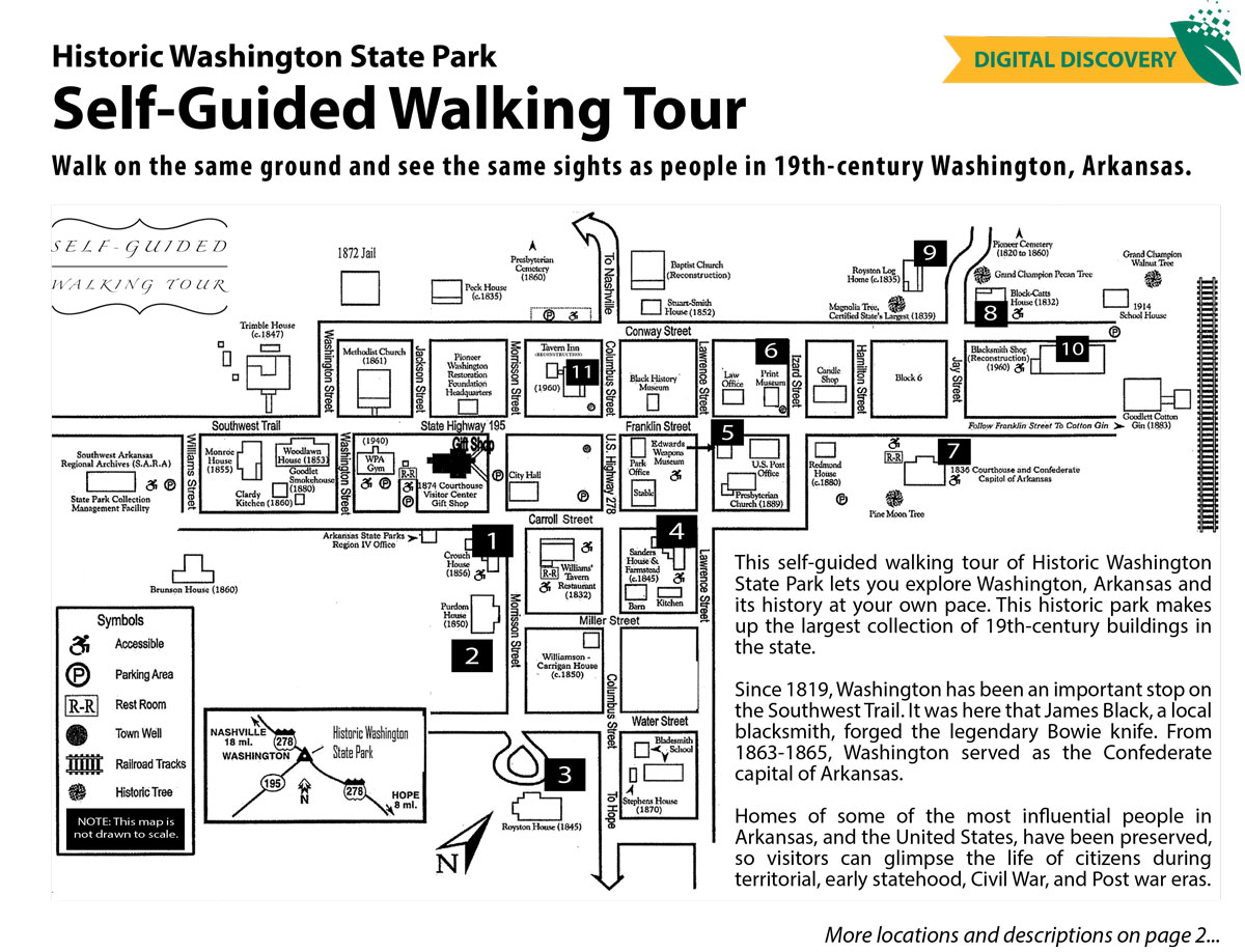 Self-Guided Tour of Historic Washington State Park Snapshot