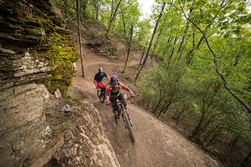 Fast, flowy singletrack at Mount Nebo State Park