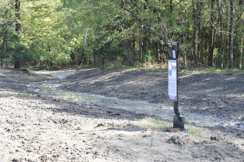 Trench project at Crater of Diamonds State Park