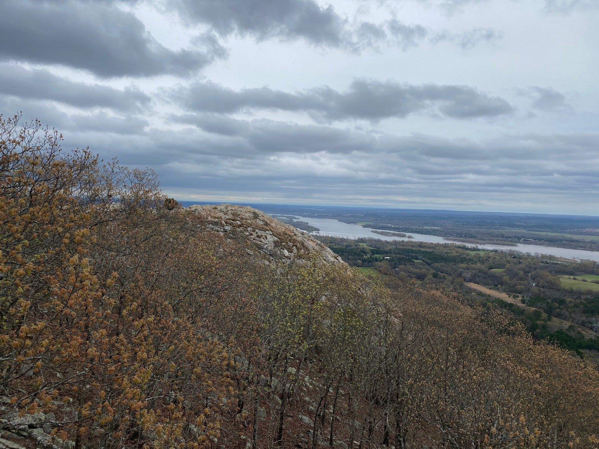 The view of the Arkansas River from Pinnacle Mountain State Park. Photo Courtesy of Pinnacle Mountain State Park.