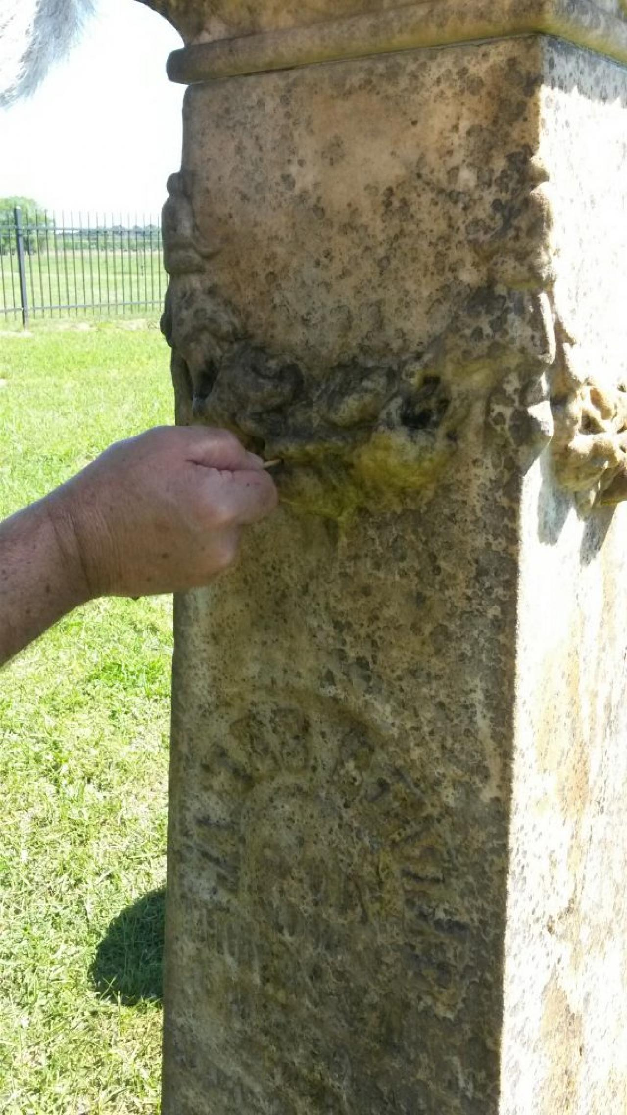 Cleaning Tombstones at Conway Cemetery