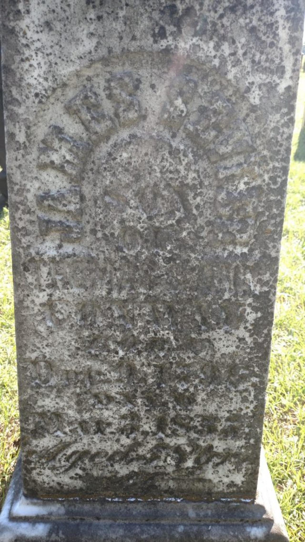 Before - Tombstone at Conway Cemetery