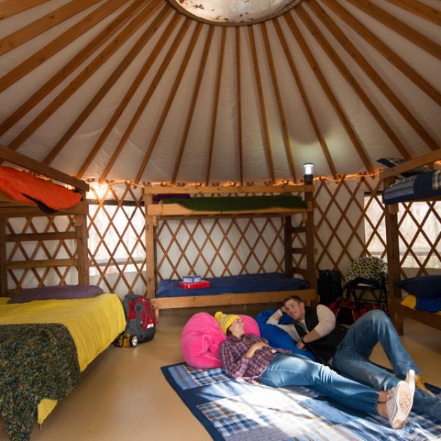 Yurts at DeGray Resort State Park