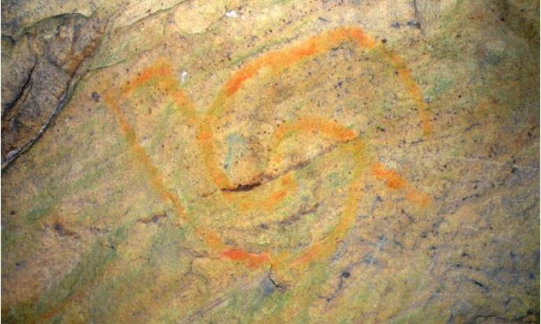 Mississipian SymbolDrawing at Rock House Cave