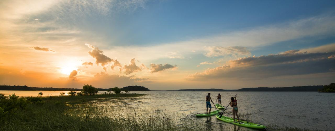 Stand Up Paddle Boarding on DeGray Lake