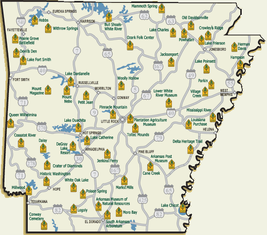 Arkansas State Parks Map Unique Ways to Support your Arkansas State Parks | Arkansas State