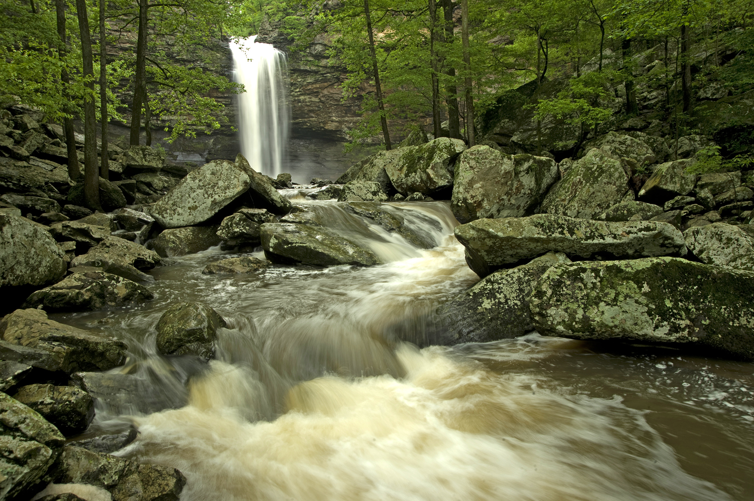 Cedar Falls, below Mather Lodge, is one of the most beautiful settings in Arkansas.