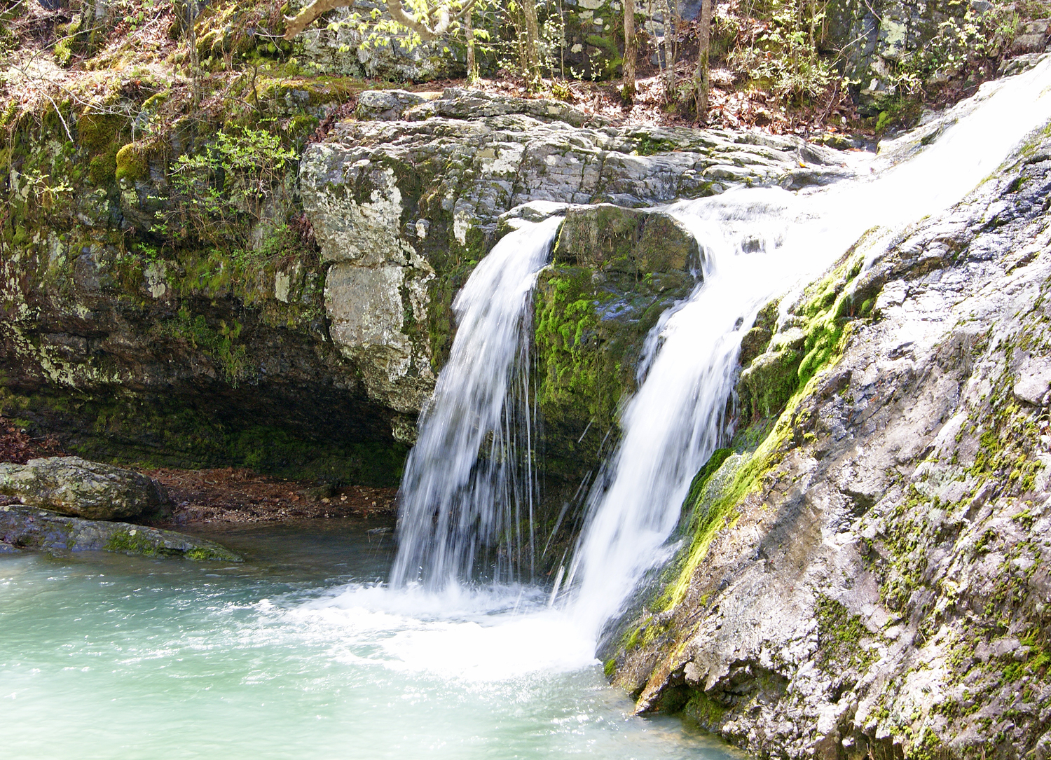 Sitting and listening to Falls Creek Falls is a great way to spend an early spring day.